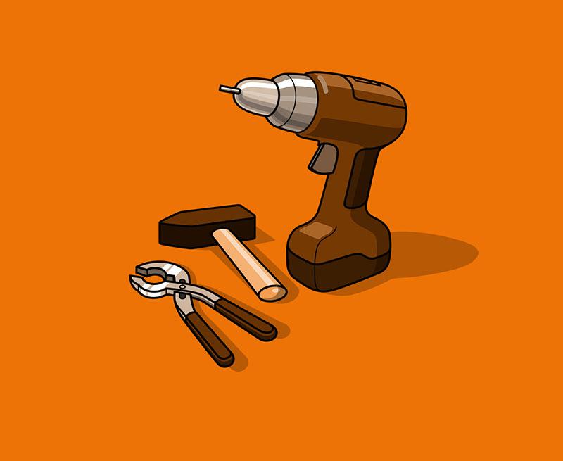Alte Handwerkzeuge für Werkstatt